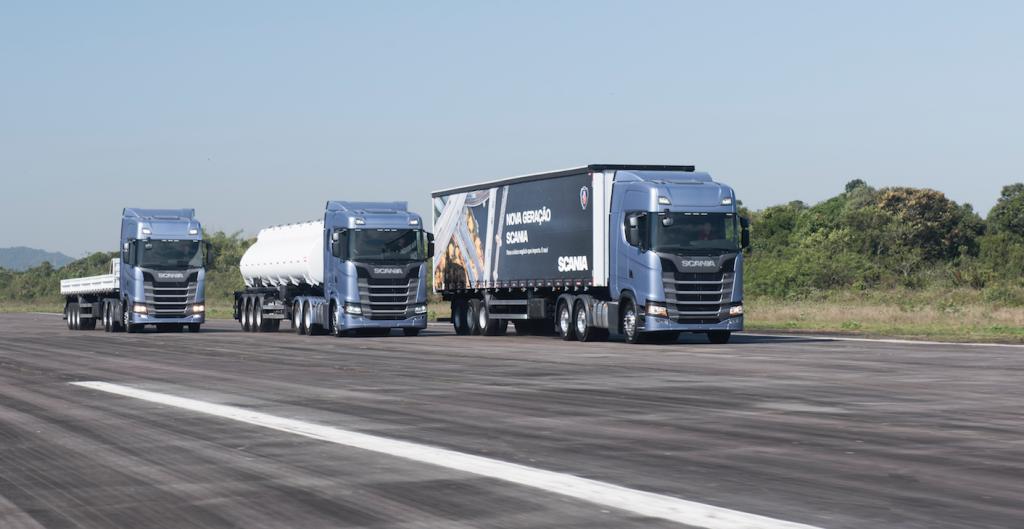 Scania lança acelerador inteligente e caminhões economia de combustível