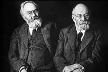 André e Édouard Michelin, inventores do pneu